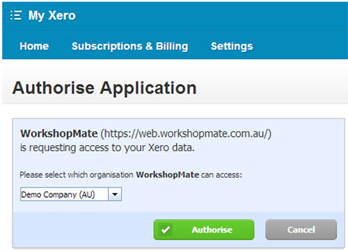Xero authenticate