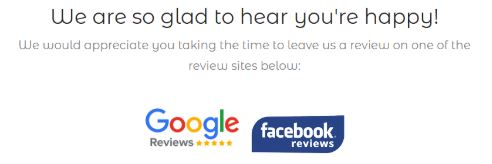 Post reviews on Google or Facebook